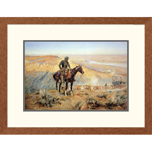Global Gallery 'Western The Wagon Boss' by Charles M. Russell Framed Painting Print