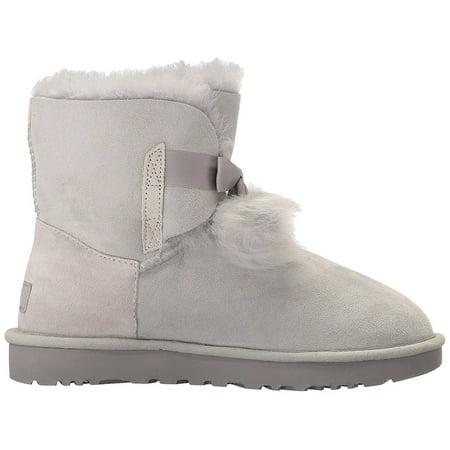 bf70ec54537 UGG Gita Women's Shoes Sheepskin Pom Pom Boot 1018517 Grey Violet