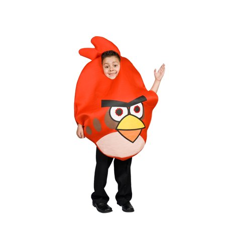 Angry Bird Costume Red for Kids Light up Eyes Size M 7 8 9 (M 7-9) (Angry Birds Costume Child)