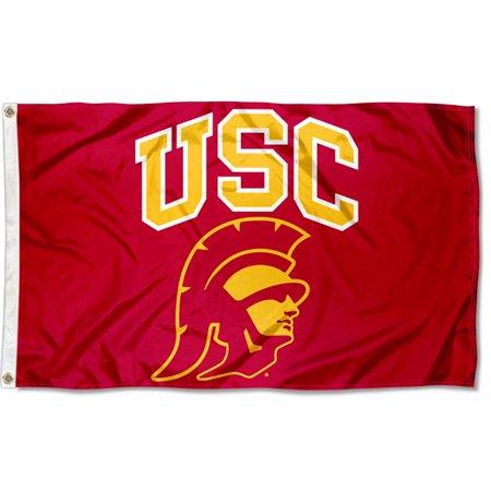 (University of Southern California Trojans Trojan Head Flag)