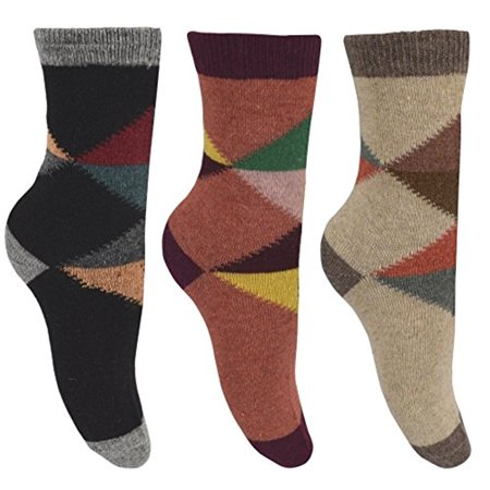 Peach Couture Unisex Warm And Cozy Colorful Pattern Cotton Blend Crew Socks