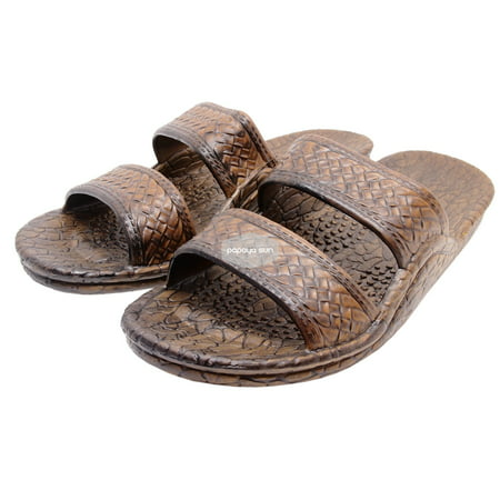 Pali Hawaii Dark Brown Jesus Hawaiian Sandals Jandals ()