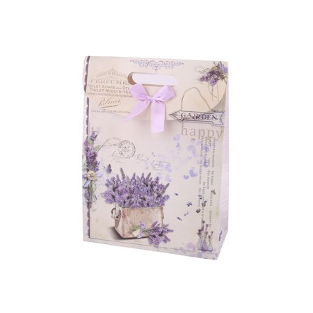 Party Flower Bear Pattern Foldable Holder Carrier Wrapper Gift Bags 2 Pcs - image 2 of 5