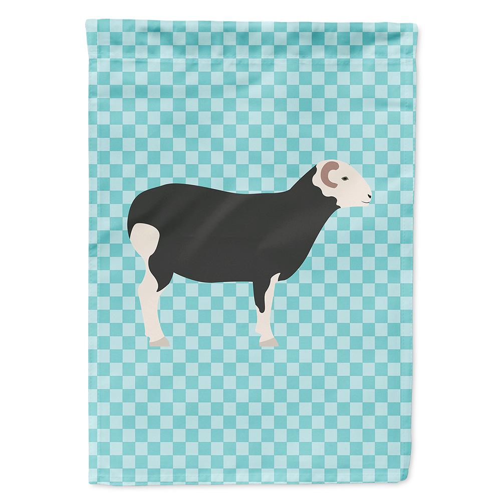 Herwick Sheep Blue Check Garden Flag