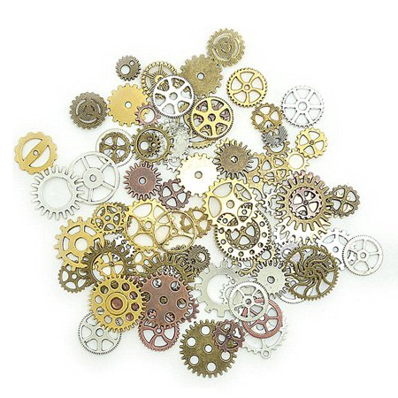 - Handmade DIY Steampunk Pendant Accessory Vintage Industrial Mechanical Gear Wheel Charms Jewelry Arts Parts