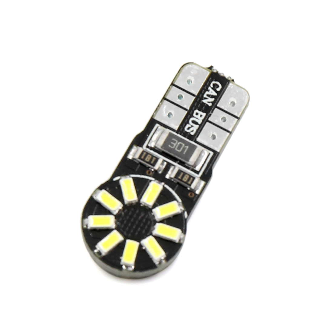 10pcs Error Free Canbus T10 W5W 18SMD LED Car License Plate Side Light Bulbs 194 - image 1 de 8