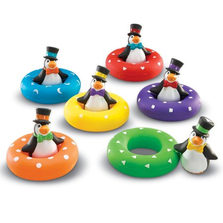 - Smart Splash, LRNLER7308, Color Play Penguins, 6 / Set, Multi