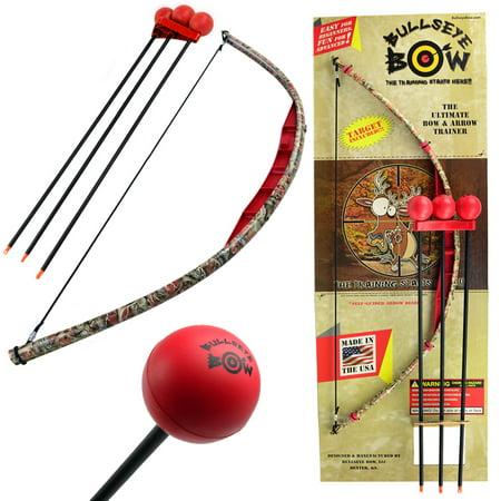 Kids Bow and Arrow Set Beginner Archery Toy Bullseye Red Camo Training Kit Foam Tip