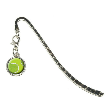 Tennis Ball Sporting Goods Sportsball Metal Bookmark with Charm