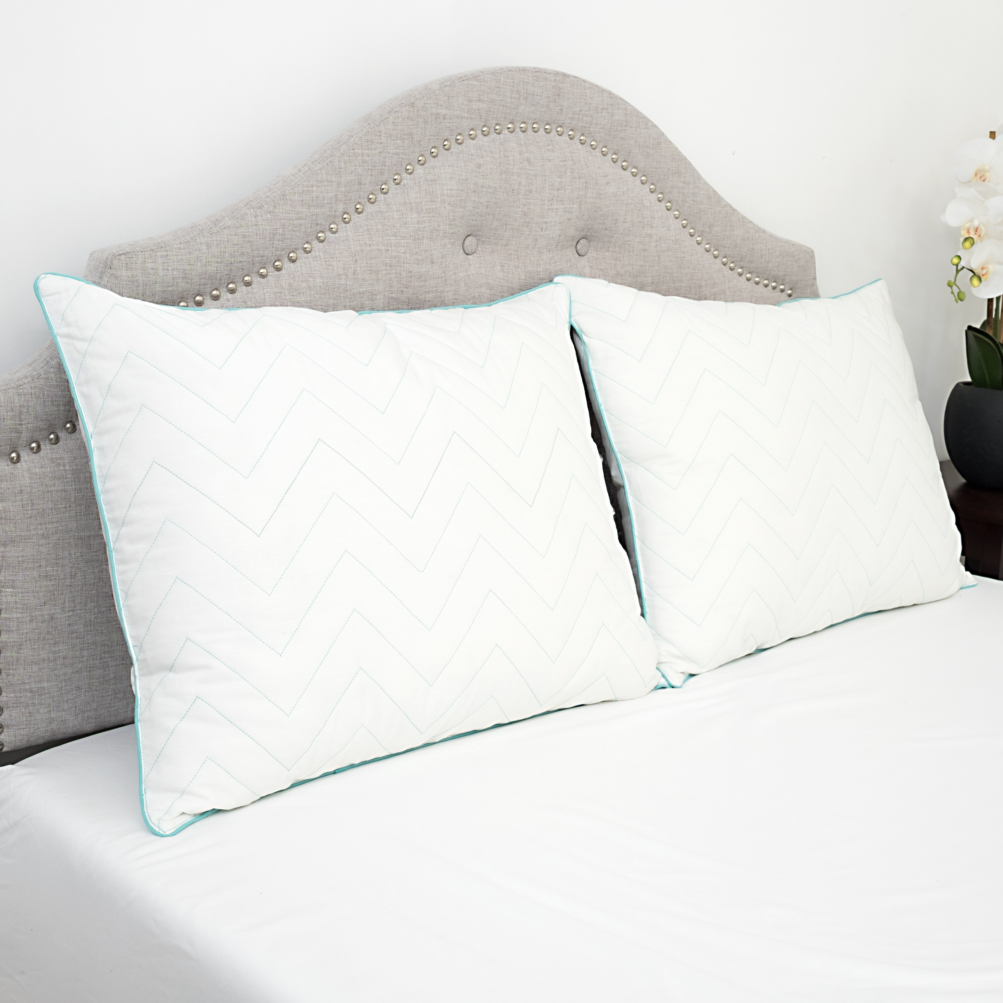 Cotton Stay Cool Gel Bed Pillow Std, Queen, King 2 Pack- Sweet Home Collection
