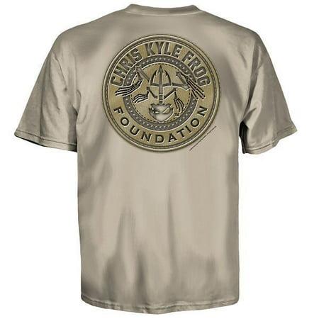 Chris Kyle American Sniper Frog Patch Sand Usa Army Patriot Mens Shirt 600 2327  Regular Xl