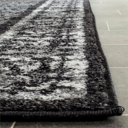"Safavieh Adirondack 2'6"" X 6' Power Loomed Rug in Black and Silver - image 2 de 3"