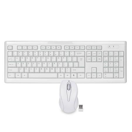 Beige Multimedia Ps/2 Keyboard (108 Key 2.4GHz Wireless USB Slim Multimedia Keyboard Optical Mouse Bundle)
