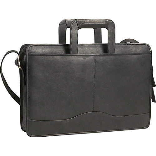 David King Single Leather Briefcase