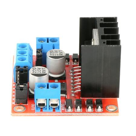 FAGINEY Stepper Motor Driving Module,1pc L298N Module H Bridge Driver Board Module for Stepper Motor Smart Car Robot, H Bridge Motor
