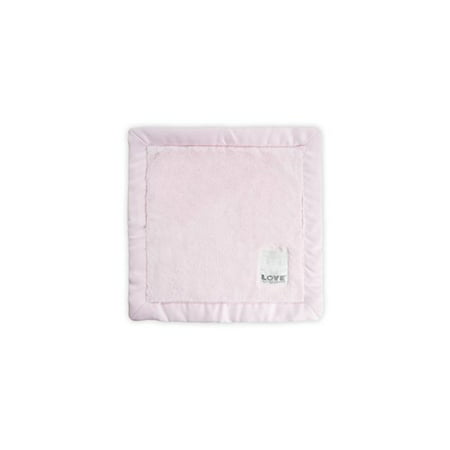 LOVE by Little Giraffe Posh Silky Blanky, Pink - Little Giraffe Muslin