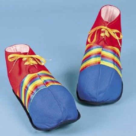 Jumbo Clown Shoes Rainbow Stripes Halloween Costume