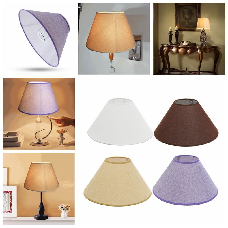 """PVC Linen Lamp Shade Bulb Cage Guard Retro Style Ceiling Chandelier Pendant Light Shade Table Desk Lamp Lampshade,14.1""""x5.11""""x7.87"""""""