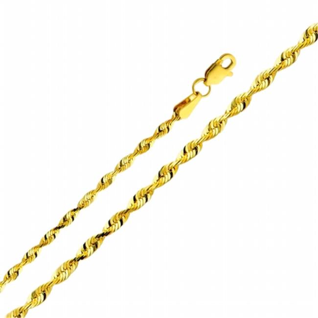 Jewelry 14k Yellow Gold 2.5-mm Solid Rope Chain Necklace (20 inch) - image 1 of 1