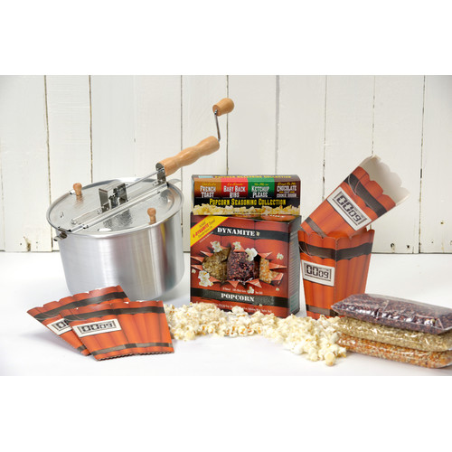 Wabash Valley Farms Whirley Pop Dynamite Popcorn Gift Set