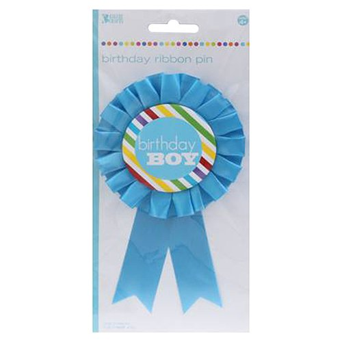 Bakery Crafts Birthday Boy Ribbon Pin
