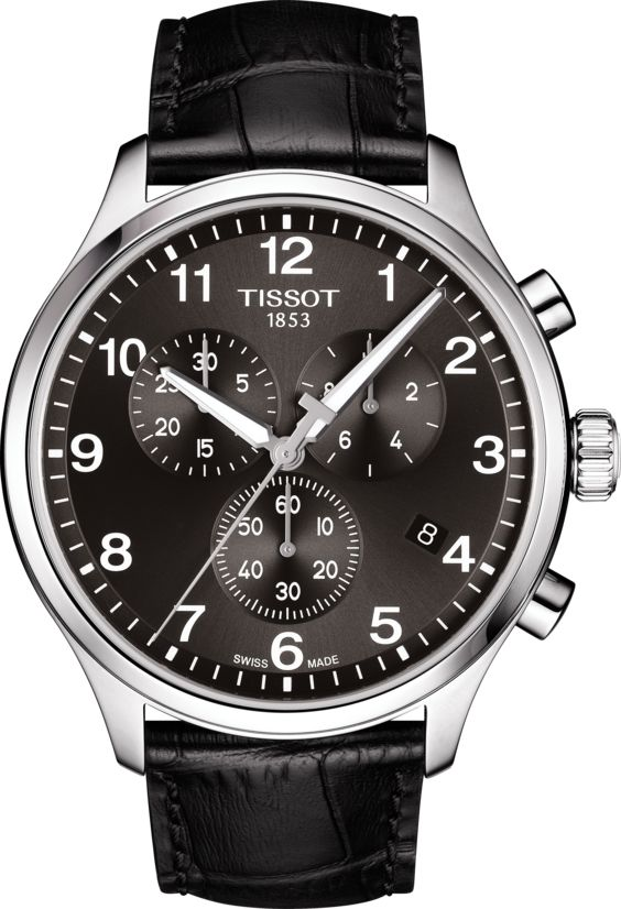 Tissot Men's Chronograph Stainless Steel Leather Chrono XL Watch T1166171605700
