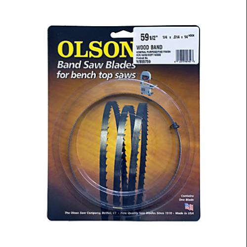 "Bench-top Bandsaw Blade, .25 X 59.5"", 14-tpi, Olson, 55759"