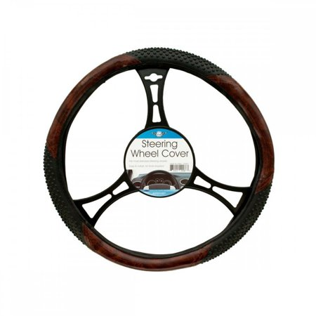 Textured Two-Tone Steering Wheel Cover (Available in a pack of