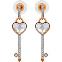 Swarovski Melt Your Heart 18K Rose Gold-Plated Clear Crystal Women's Earrings