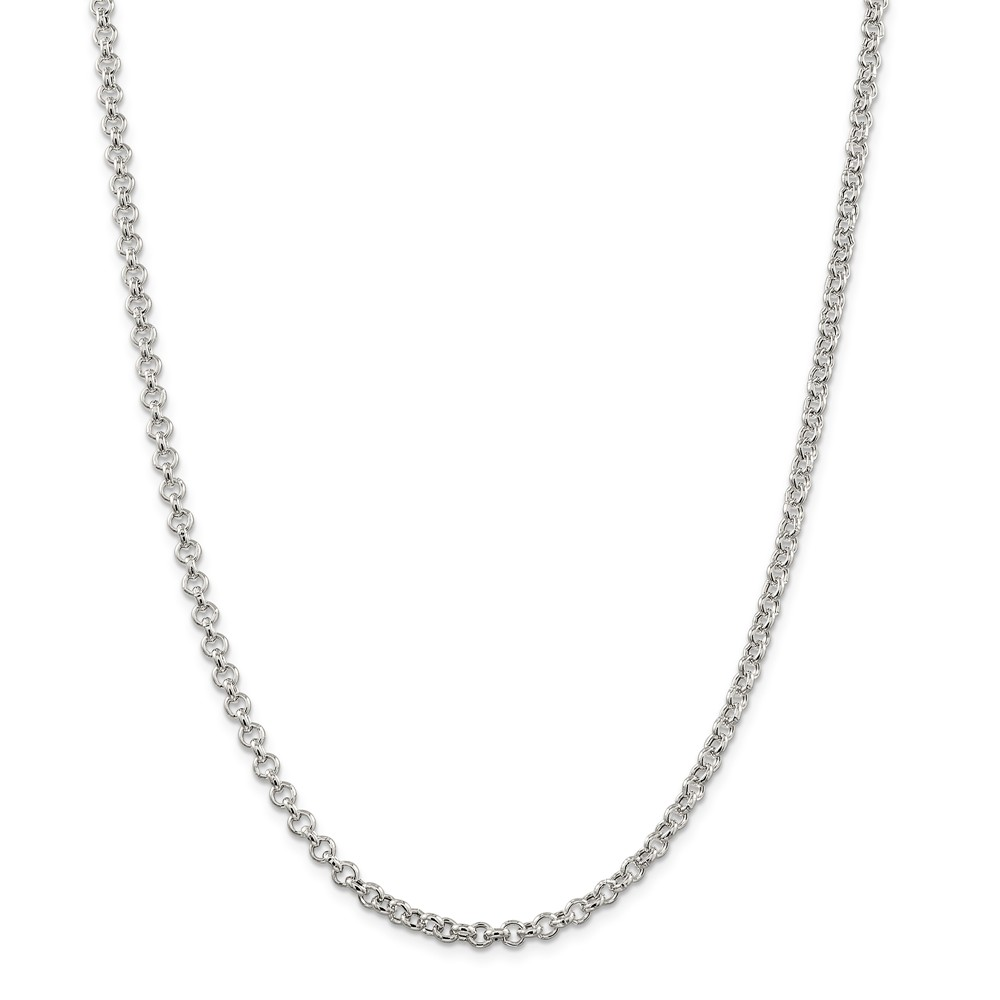 Sterling Silver 4.25mm Rolo Chain Necklace
