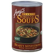 Amy's Hearty Minestrone with Vegetables Organic Soup, 14.1 oz, (Pack of 12)