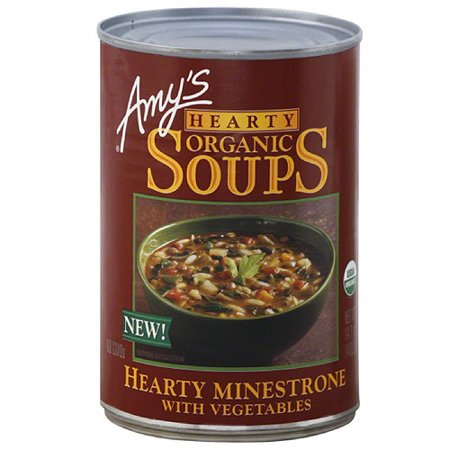 Amy's Hearty Minestrone with Vegetables Organic Soup, 14.1 oz, (Pack of 12) (Organic Minestrone)