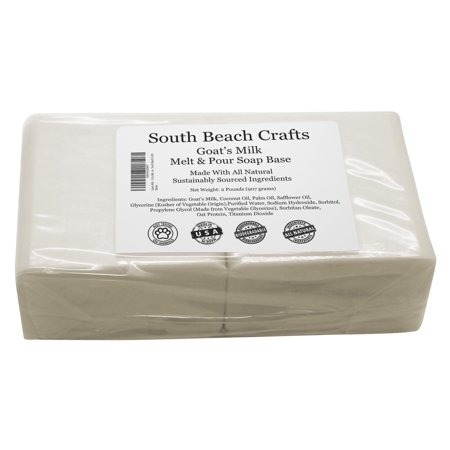 Goats Milk - 2 Lbs Melt and Pour Soap Base - South Beach Crafts (Goat Milk Face Soap)