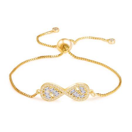Buyless Fashion Girls Infinity Bangle Bracelet With Drawstring Closure Jewelry](Little Girls Bracelets)