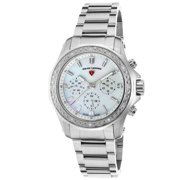 16201Sm-22 Islander Diamond Multi-Function Stainless Steel Mother Of Pearl Dial Watch