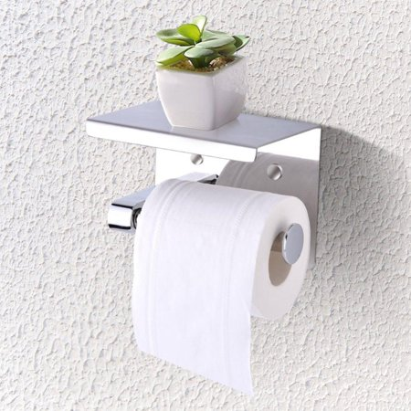 Ejoyous Toilet Accessories Toilet Paper Rack Stainless Steel Wall Double Roll Paper Rack Hotel Toilet Paper Towel Box Bathroom Toilet Paper Towel Rack Punching Toilet Paper Holder ()