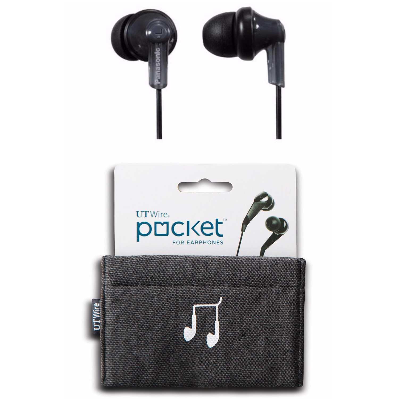 Panasonic RP-HJE120 ErgoFit In-Ear Earphones (Black)