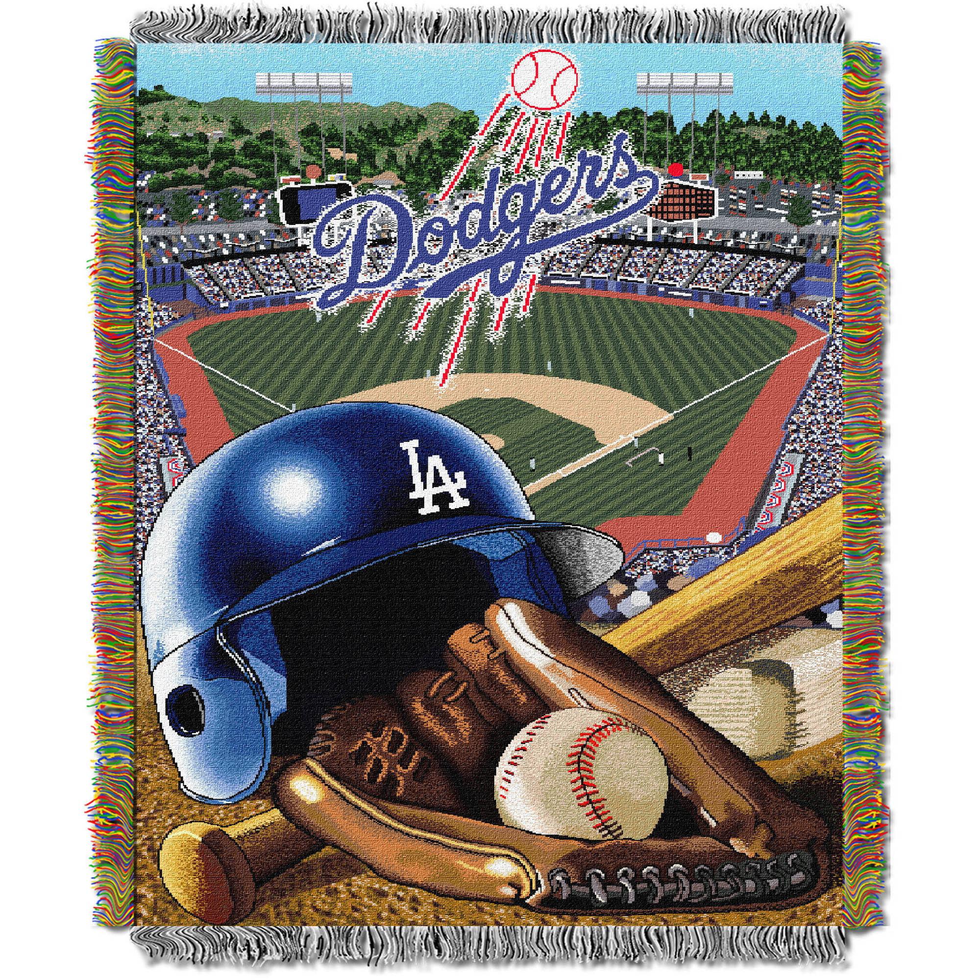 "MLB 48"" x 60"" Home Field Advantage Series Tapestry Throw, Dodgers"