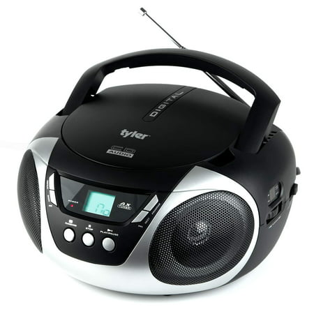 Tyler TAU101-SL Portable Sport Stereo CD Player with AM/FM Radio, Aux & Headphone Jack Line-In