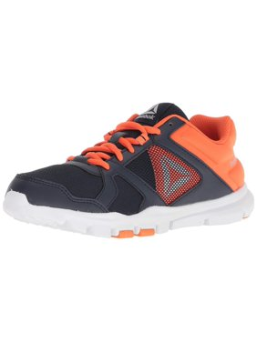 Kids Reebok Boys Yourflex Train 10 Low Top Lace Up Trail Running Shoes