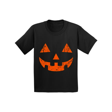 Awkward Styles Halloween Shirts for Kids Spooky Jack O' Halloween Graphic Pumpkin Design Trick or Treat Family Fun Holiday Shirts Pumpkin Party Shirt for Youth Funny Tee