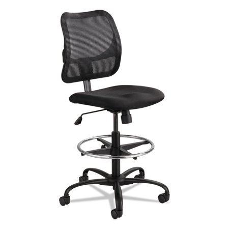 Safco Vue Series Mesh Extended Height Chair  Acrylic Fabric Seat  Black