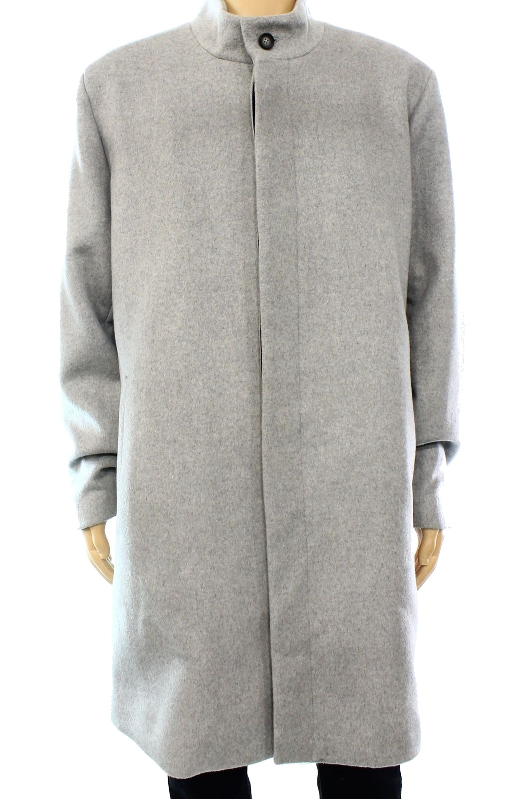 Alfani New Gray Heather Mens Size Small S Whispy Top Coat Wool by Mens Wool Coats