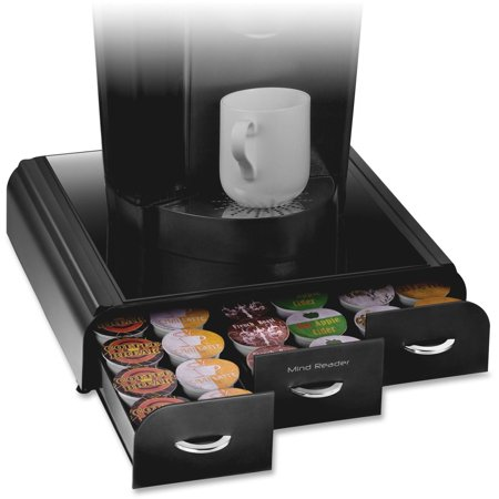 Mind Reader 36 Capacity 'Anchor' Triple Drawer K-Cup, Dolce Gusto, CBTL, Verismo, Single Serve Coffee Pod Holder Drawer, Black