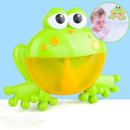 Marainbow Bath Bubble Machine Big Frog Automatic Bubble Maker Blower Music Bath Toys For Baby (Big Toddler Toys)