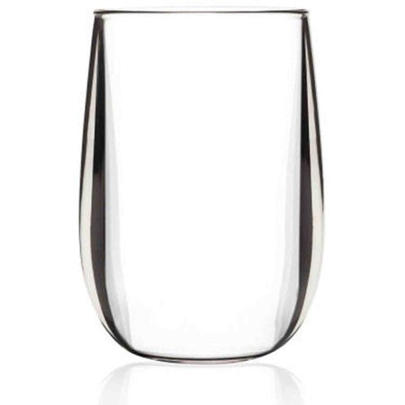 BarLuxe 11.5-Ounce Vintage Stemless 6-Piece Unbreakable Stemless Wine Glasses Set by