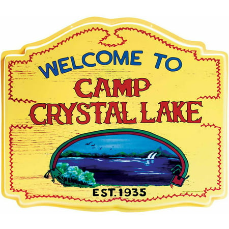 Crystal Lake Sign Halloween Decoration