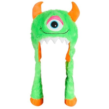 Halloween Character Cute Green Monster Plush Hat Costume Accessory](Cute Halloween Chibis)