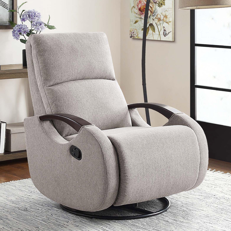 Serta Modern Swivel Glider Recliner Gray Fabric Upholstery Walmart Com Walmart Com
