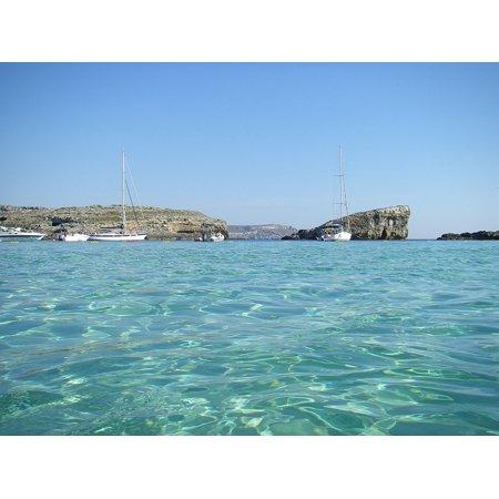 Maytag Frame (Framed Art for Your Wall Island Water Sea Blue Rocky Mediterranean Malta 10x13 Frame)